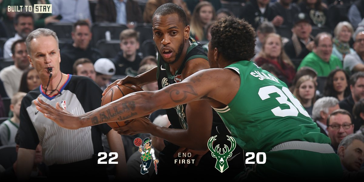 Bucks end the first on a 14-6 run!!  #FearTheDeer