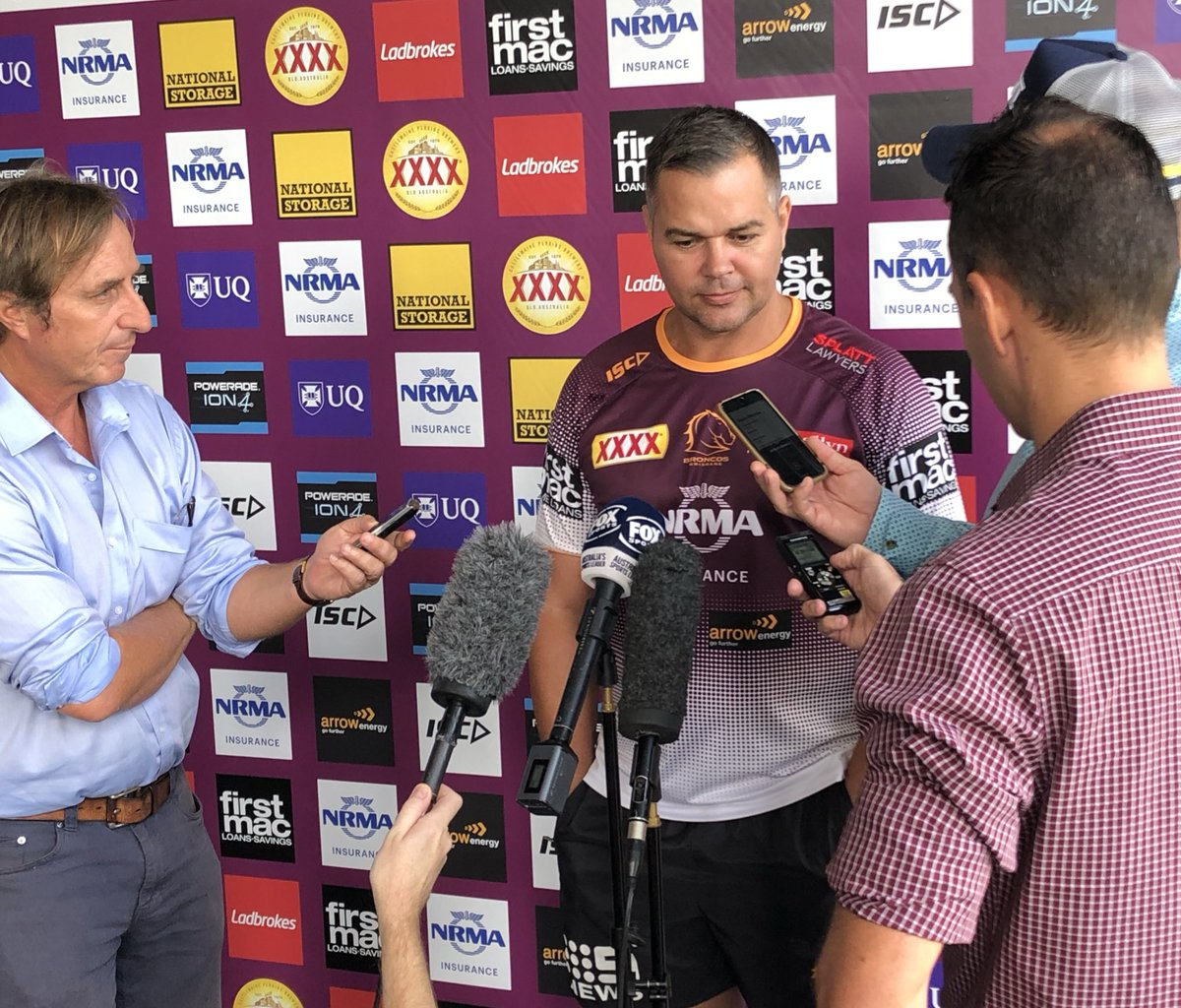 SEIBOLD: I think our actions over the last week's shown where we stand on players being stood down for off field issues. @brisbanebroncos coach open & candid on the biggest talking point in #nrl  Also.. why their final session of the week lasts just 18mins @7NewsQueensland 6pm