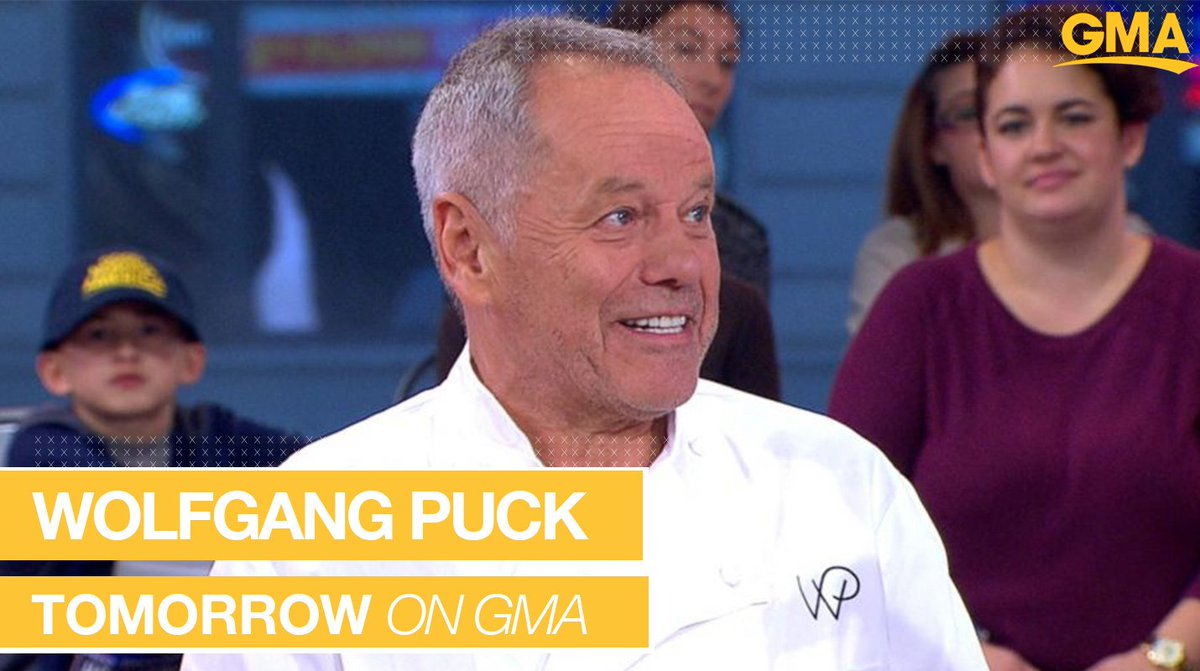 TOMORROW ON @GMA: @WolfgangPuck joins us LIVE from Hollywood from inside the Governor's Ball kitchen, cooking up his famed menu for all the #Oscar attendees!   https://t.co/W1vUNLSAev