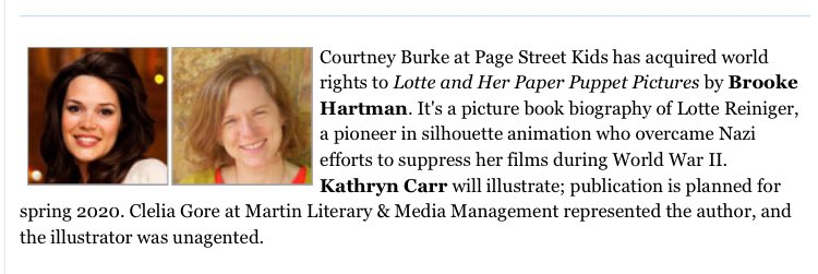 I've been waiting MONTHS to make this announcement! So excited to be working on this project with @courtneybbooks, @gocarrgo and the @PageStreetKids team, and to my amazing agent @MadmoiselleClel   Thanks #PitMad for a match made in heaven!  #picturebook #kidlit  @LotteMovie<br>http://pic.twitter.com/dWeXpat1Sk