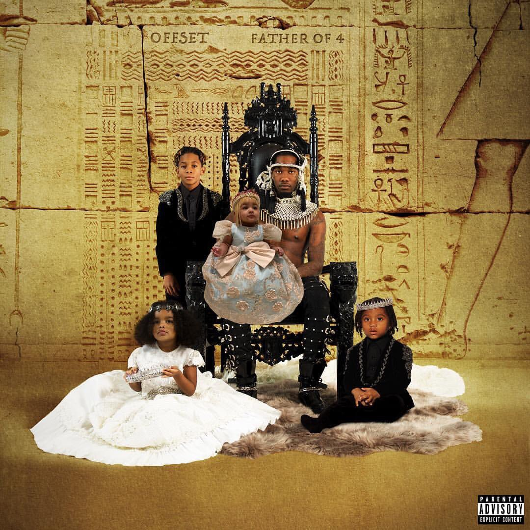 .@OffsetYRN shares the cover art for his 'Father of 4' album featuring his children:  Jordan, 9 Kody, 3 Kalea, 3 Kulture, 7 months <br>http://pic.twitter.com/sa0SYZQ24r