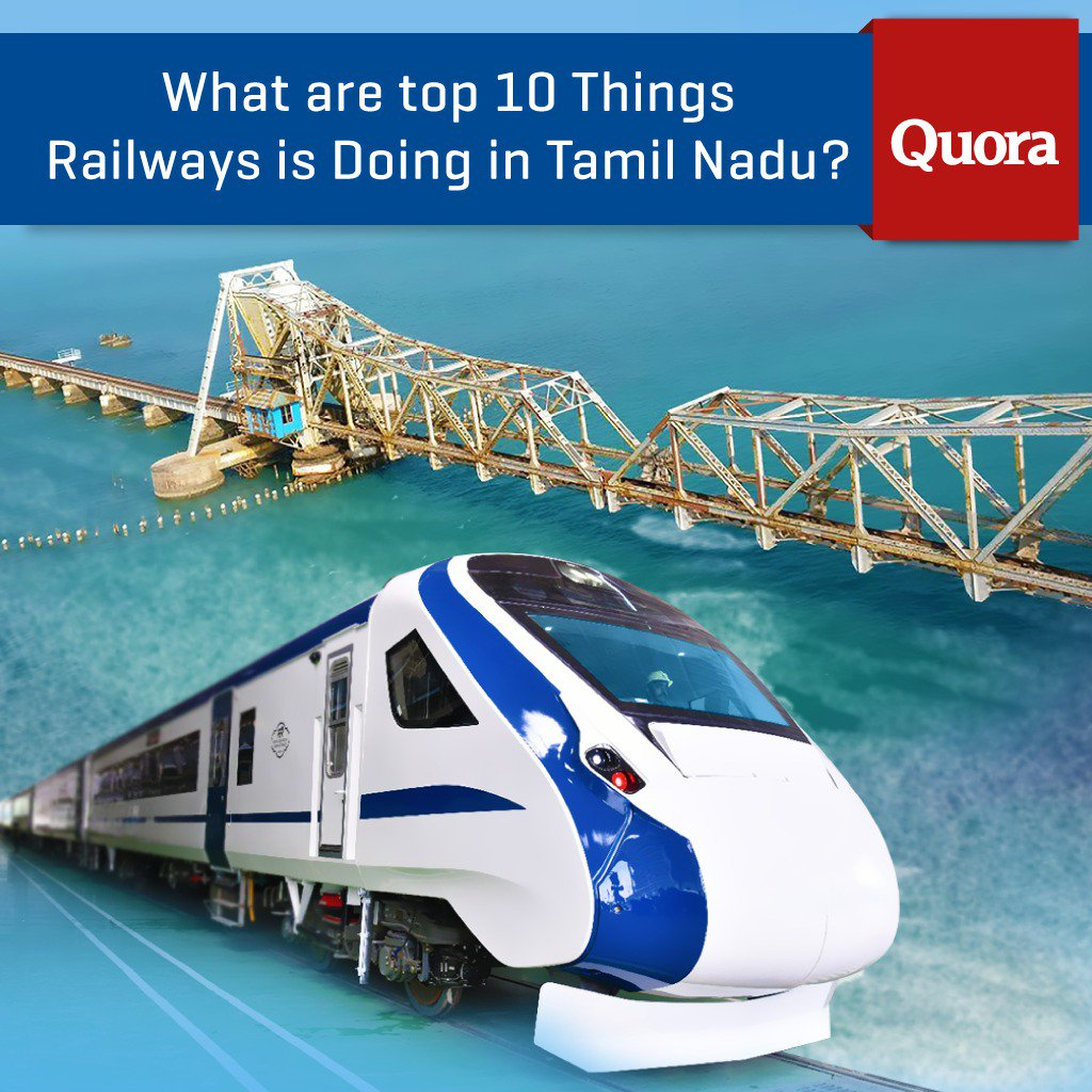 Indian Railways stands firmly committed to provide best-in-class service to the people of Tamil Nadu. Read my reply on Quora, 10 things Railways is doing in Tamil Nadu:  https://t.co/XNw1W0cESD