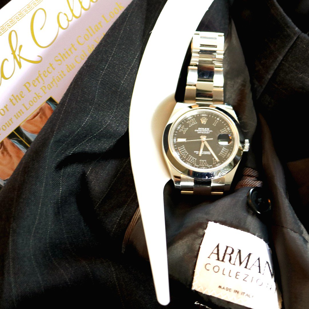 Dress Sharp with Armani Suit and Slick Collar