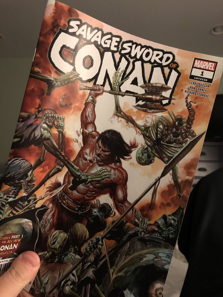 Savage Sword of Conan number one. Look at that beautiful cover art from Alex Ross. #comicbooks