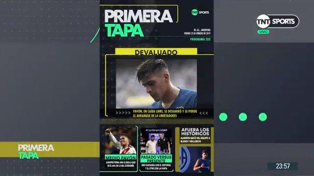 #TNTSports   La situación de Pavón, la nueva cláusula de Juanfer Quintero, el clásico de Avellaneda y el presente de San Lorenzo fueron los temas elegidos por @Angelalerena, @mccastilla, @delriofede y @fczyz para conformar la #PrimeraTapa. ¡Mirá!