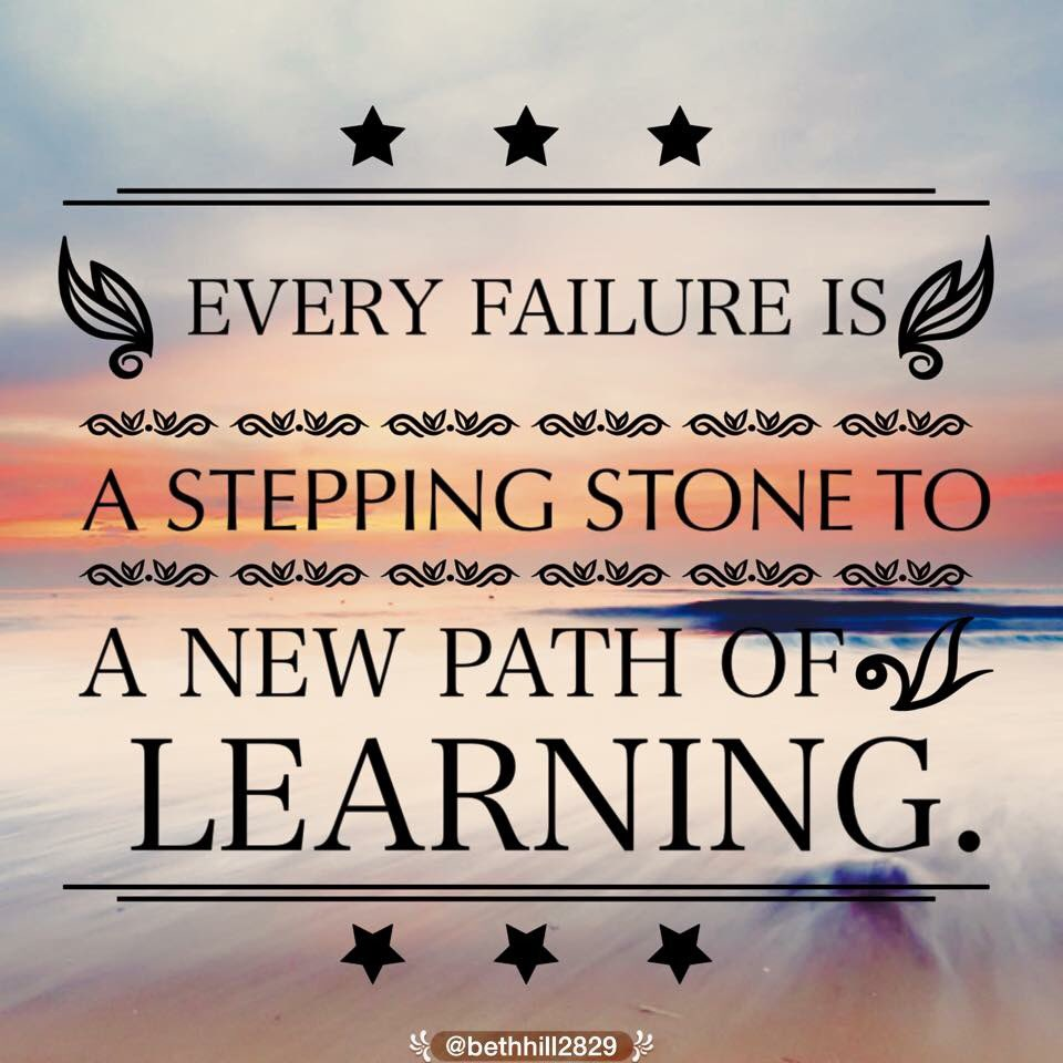 A5: We learn more from mistakes than we do success. #EduAR