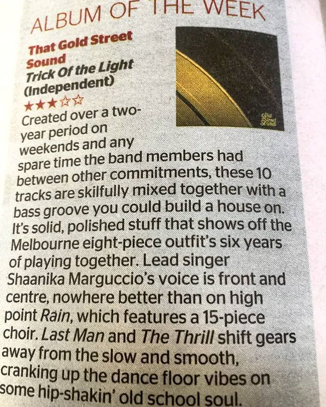 Wow! What a way to start the weekend! Album of the week in The Age and Sydney Morning Herald! Thanks for the write up  #albumoftheweek #thatgoldstreetsound #melbournesoul #independantmusic #melbourne #love #theage #sydneymorningherald  https:// ift.tt/2BJZgsA     <br>http://pic.twitter.com/xAwgX5yHzd