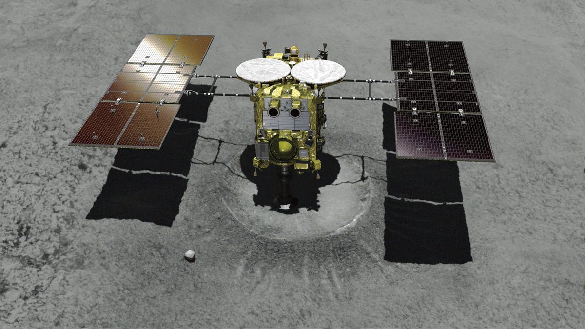 Japanese spacecraft touches down on asteroid to get samples https://t.co/yl3b9No2ID