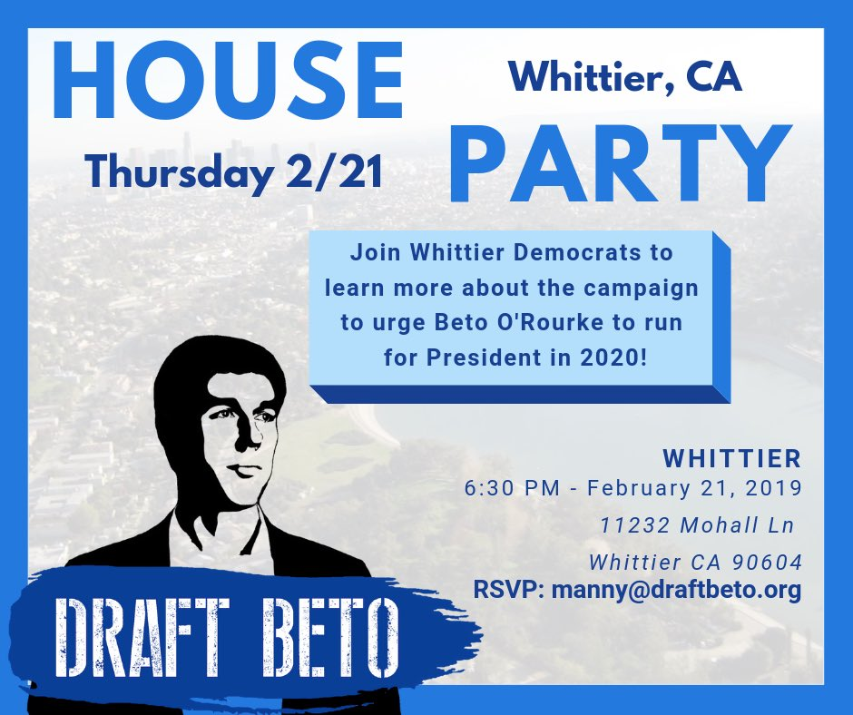 Join me this Thursday as we continue to build support for @BetoORourke.  #DraftBeto<br>http://pic.twitter.com/tvIGocUyOB