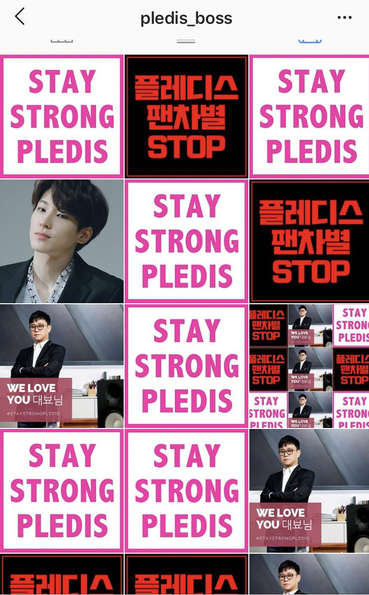 Omg  among the bunch of red words is staystrongPledis in pink colour and We Love You 대표님   IM CRACKING UP  <br>http://pic.twitter.com/MU6y3rG6E8