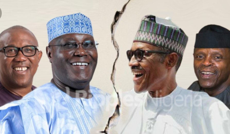 So, we&#39;re here. Where we choose between good or bad, progress or regression, action or inactivity, life or death, #Atiku or #Buhari. I am sure it surprises non that I choose @OfficialPDPNig&#39;s Alhaji Atiku Abubakar @atiku over @APCNigeria&#39;s President Buhari @MBuhari. #BuhariMustGo <br>http://pic.twitter.com/oNgQHnWpjB