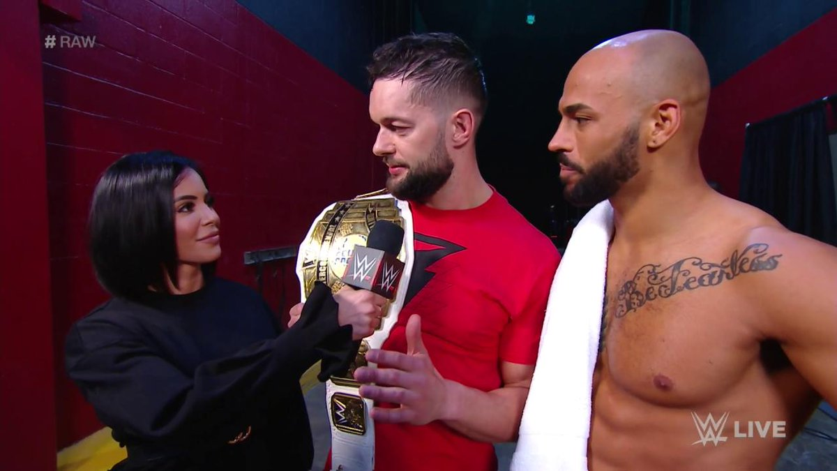 .@FinnBalor may have taken home the #ICTitle at #WWEChamber, but #RAW was all about @KingRicochet!