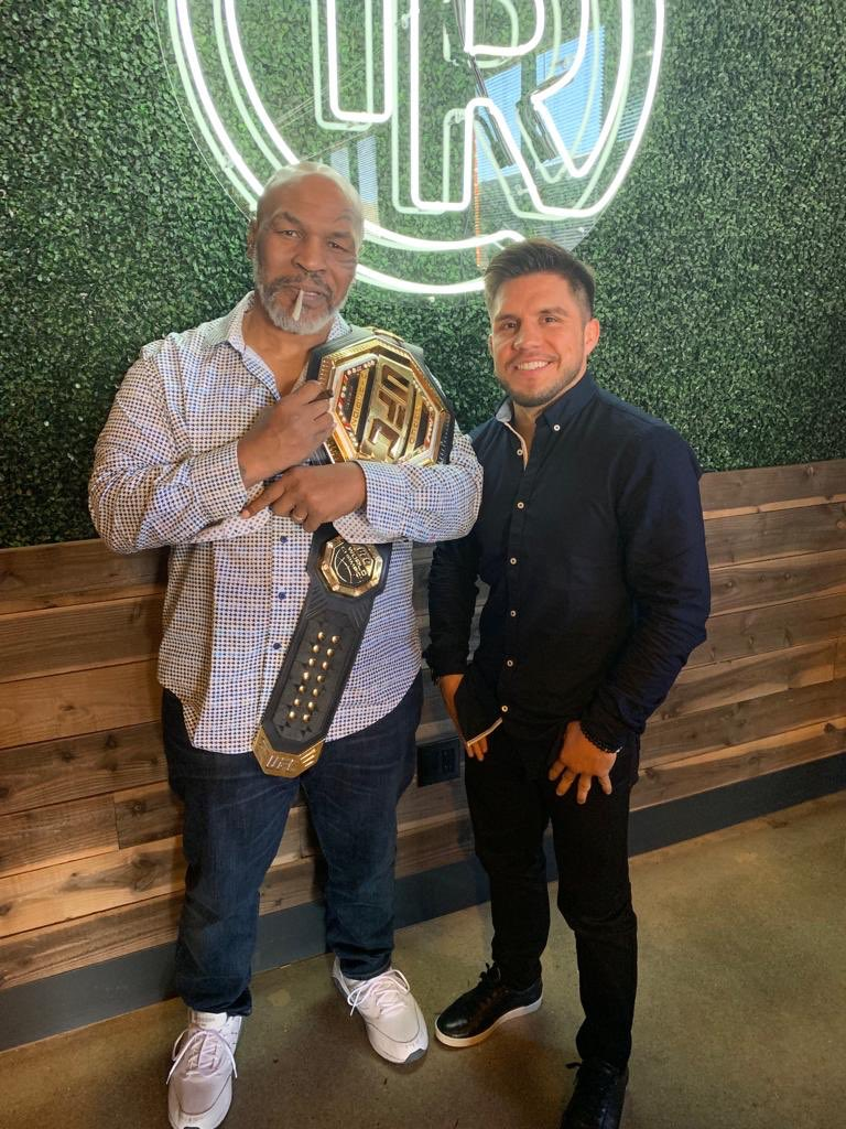 It's not everyday you get a chance to meet the legendary @miketyson Let alone be a guest on his podcast. Just a kid from the bario sharing his story with the legend. #tysonranch #promotionaltour #miketyson