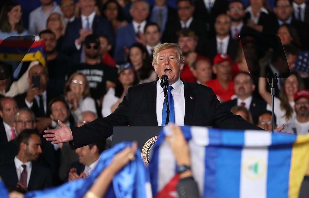 A Proud Boys leader sat behind Trump during a Miami rally https://t.co/jszvofTh6y