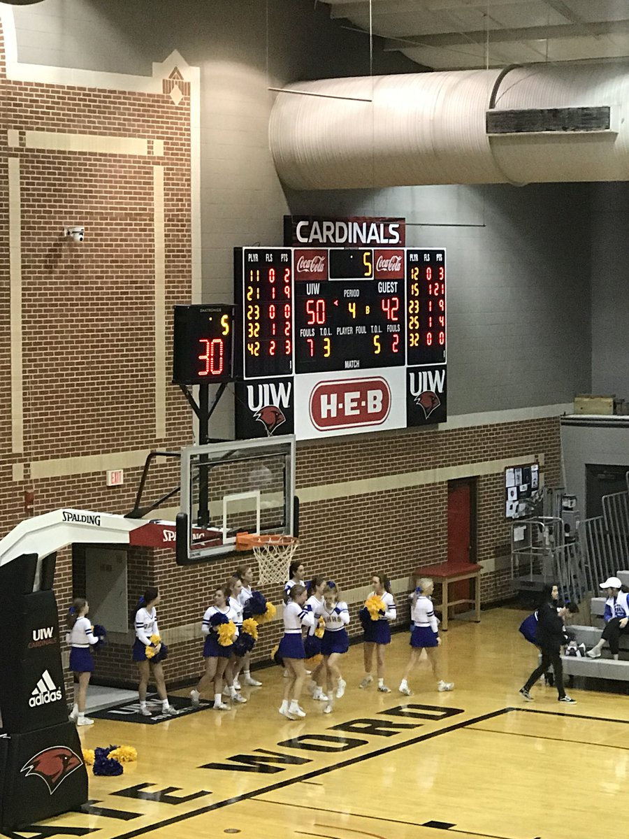 5A Bi-District Playoffs End of third at UIW @HoopsSouthside 42 @ah_hoops 50 #txhshoops #AlamoCityHoops