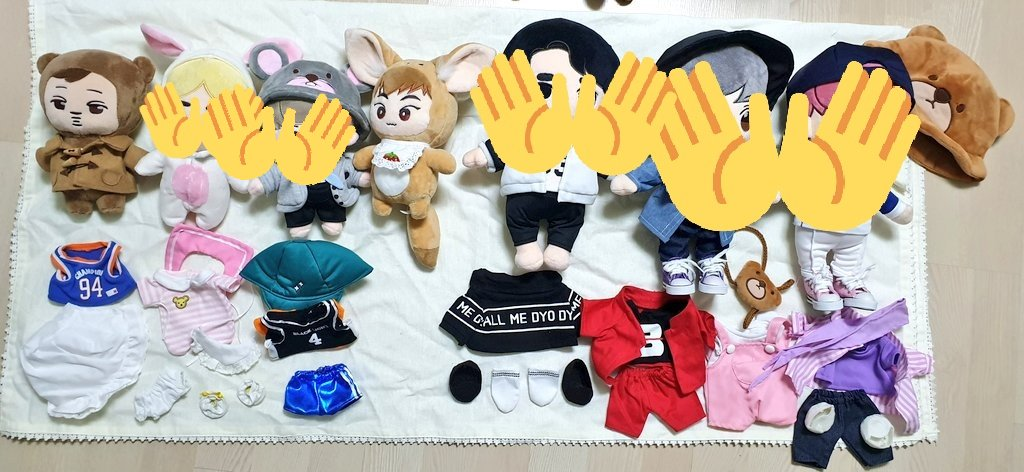AVAILABLE DOLLS  Not yet onhand  Gominee - 4k CMB Sehun - 2k Sewoo - 2k Others - 1k each  *Need to get all to push through