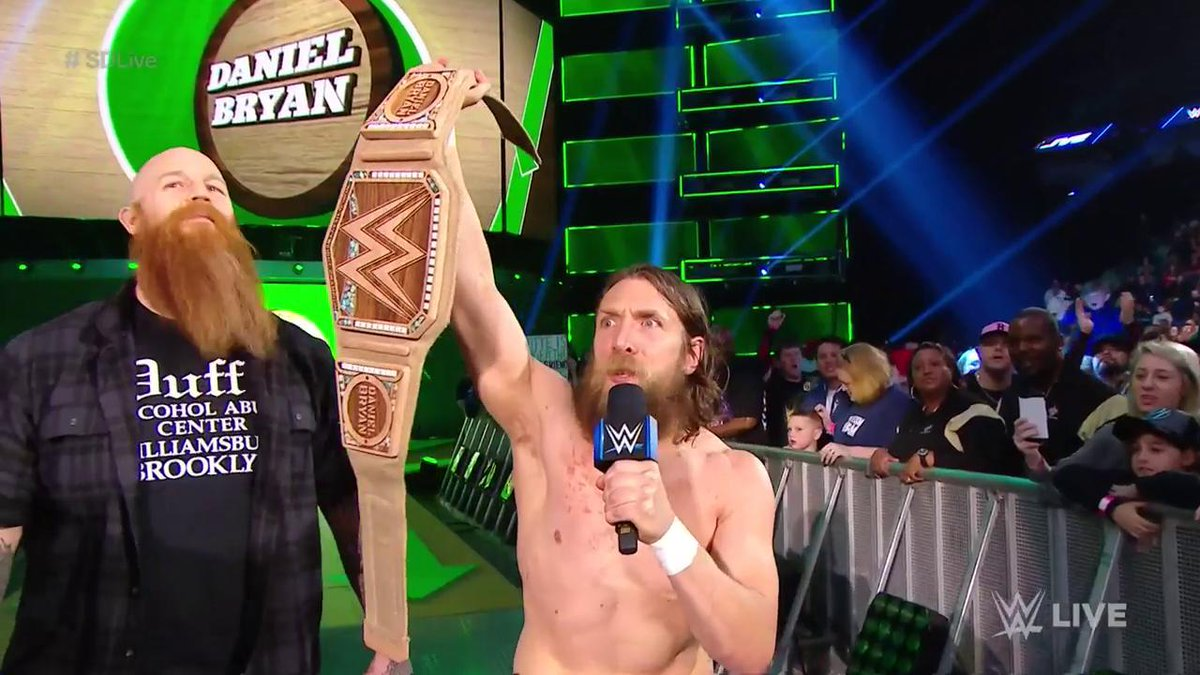 The 🌏's Champion survived the #EliminationChamber. ♻️  @WWEDanielBryan #SDLive