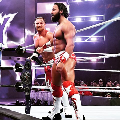 It doesn't matter what announcement @WWEMaverick has tonight on #205Live. We run this division. #WWE