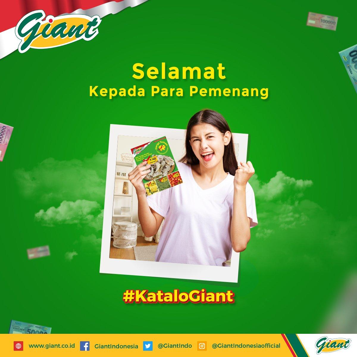 Kata lo Giant murah hati? Bener banget, dong! Nih Gimin kasih tahu siapa saja yang menangin challenge kuis #KataloGiant  Gimin ucapkan selamat kepada para pemenang. Pemenang akan dihubungi langsung oleh pihak Giant.  #KuisGiant #GiantIndonesia #GiantHargaMurahSetiapHari