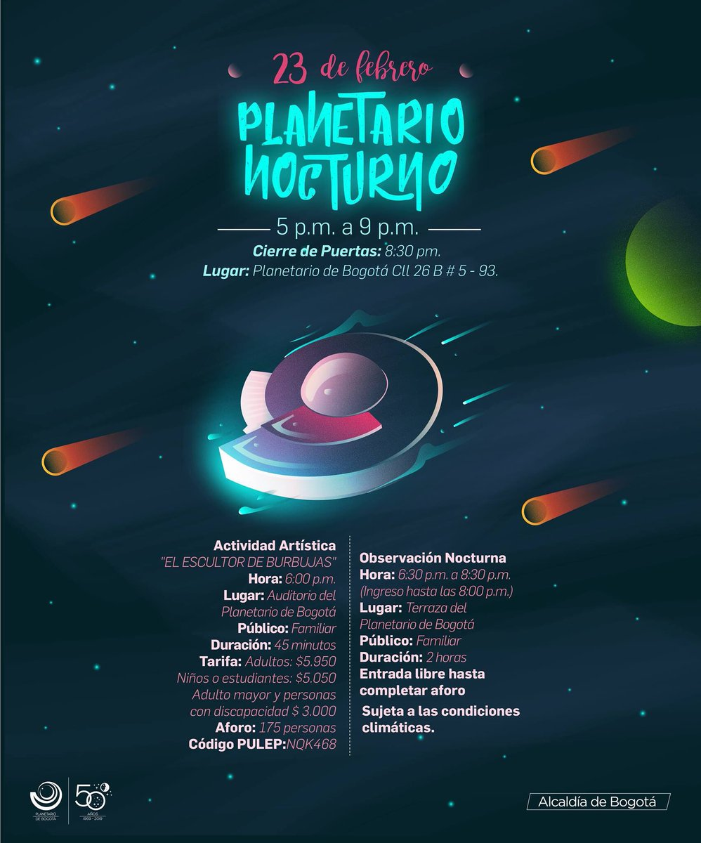 Eventos Culturales Bogotá Planetario Nocturno Y Su