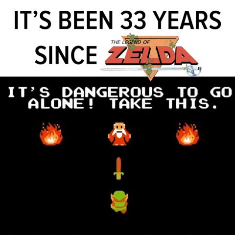 The Legend of Zelda released in Japan 33 years ago!