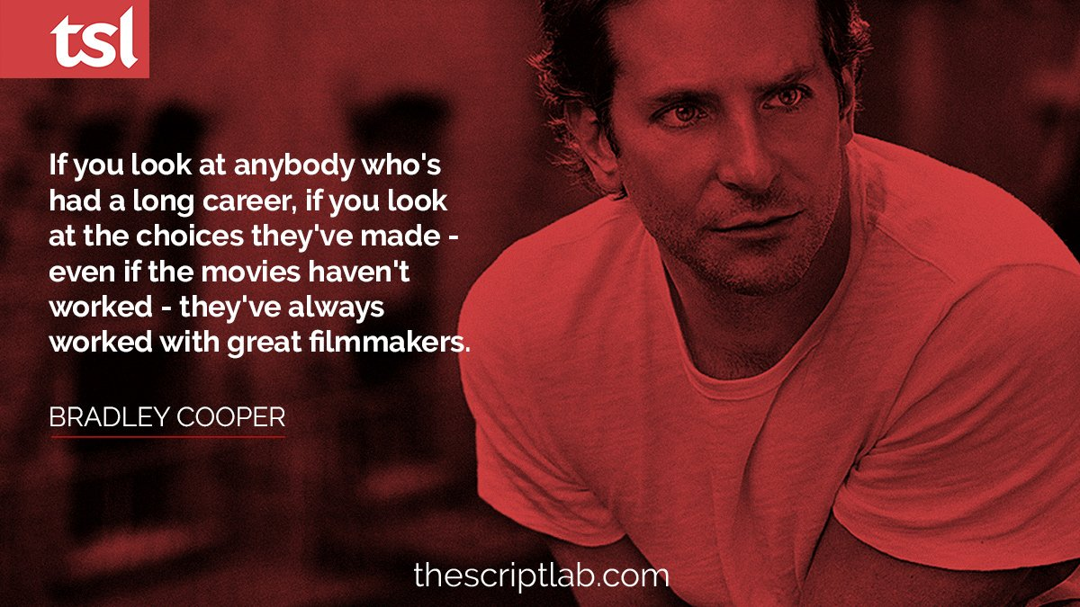 Movies don't always work out, but great teams do.  #screenwriting #quote #writing #bradleycooper #oscars #oscarnoms