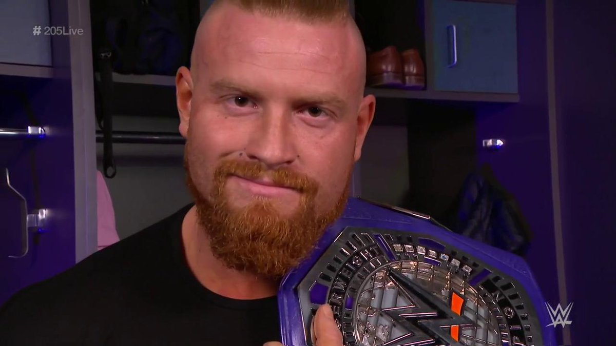 #Cruiserweight Champion @WWE_Murphy knows the question on everyone's minds...  ...who will earn the opportunity to step up to the champ at #WrestleMania? #205Live 🤔