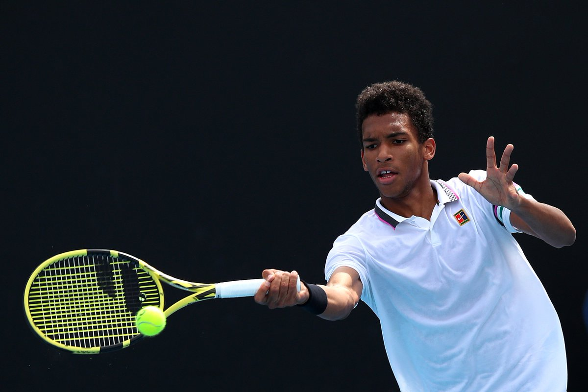 One to watch in 2019 💥  The 18-year-old is projected to crack the top 100 when next week's rankings are released.  @felixtennis |  #AusOpen