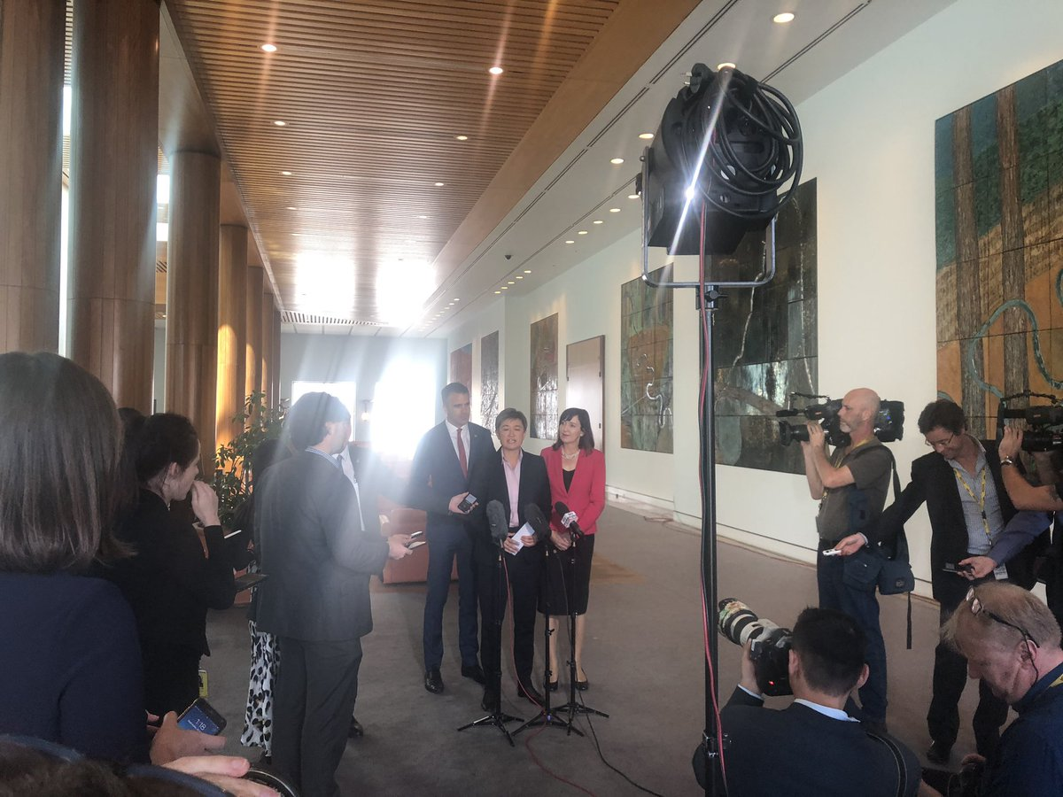 Today I joined @SenatorWong & @susan_close to talk about the stunning revelations that the Submarine deal signed by the Liberals did not include any requirements for local jobs or procurement.  It appears just like the River Murray, Steven Marshall has sold out South Australia.