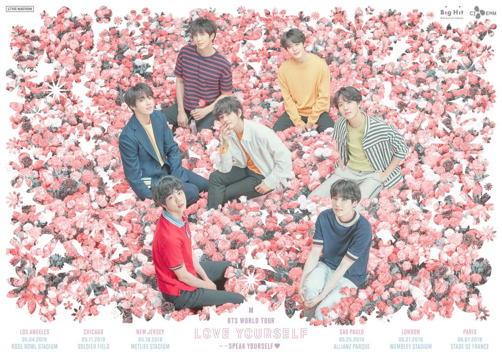 #BTS annnounces 10 concert dates for their upcoming global tour #LoveYourselfSpeakYourself which will visit 8 of the biggest stadiums in the world!🕺🕺🕺🕺🕺🕺🕺🎤🌎🌍🌏🔥👑  https://t.co/qEfa1SvAZw