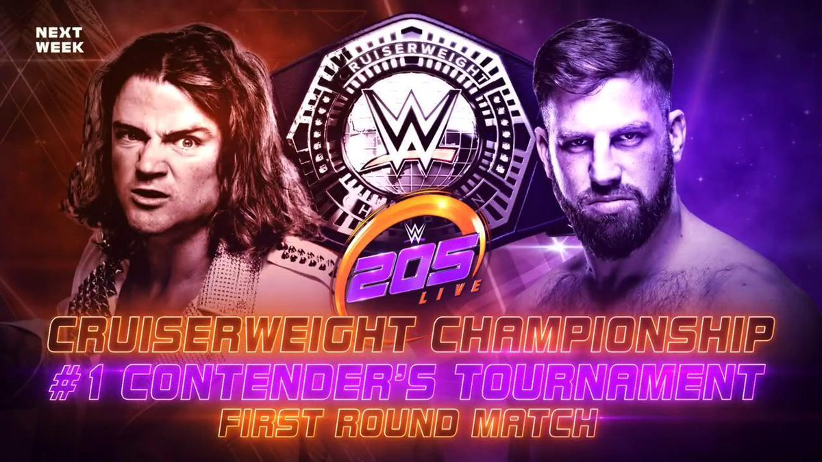 #205Live's Road to #WrestleMania begins NEXT WEEK as the tournament to determine @WWE_Murphy's @WrestleMania challenger begins!  - @KalistoWWE vs. @TonyNese  - @mrbriankendrick vs. @DrewGulak