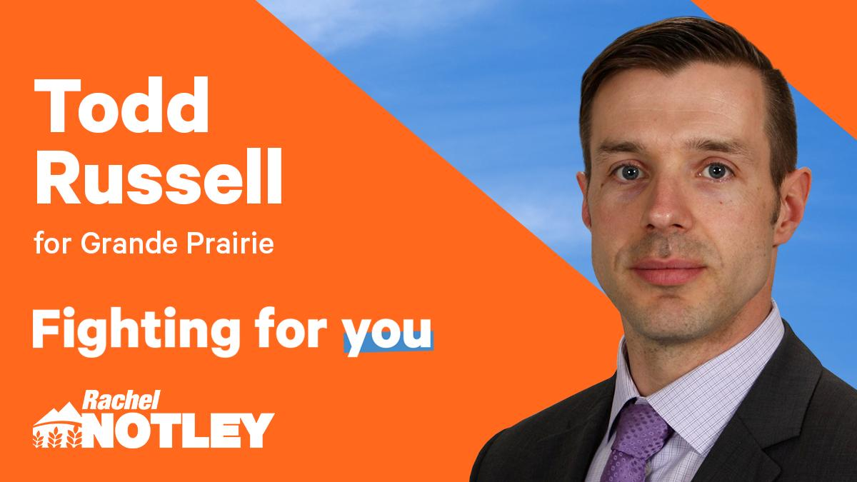 Congrats to Todd Russell! Our nominated candidate for Grande Prairie.  #ableg #abndp #abpoli
