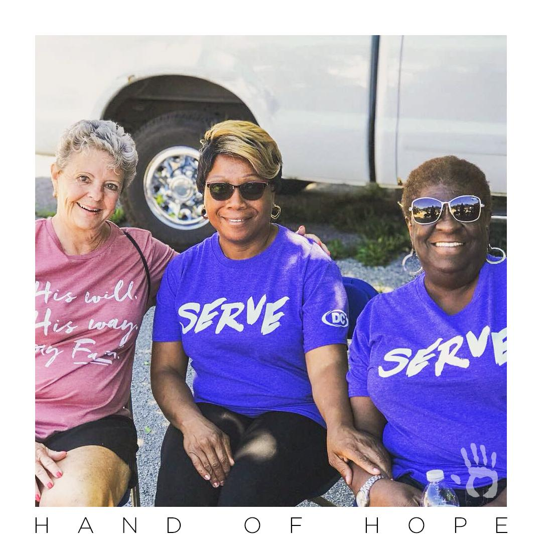 Serving God can be simply this: Being that friendly face someone needs to see when they're feeling lost or lonely or completely out of place. This snapshot was taken at a Serve Saturday event at the St. Louis Dream Center. #HandOfHope  #GiveHope