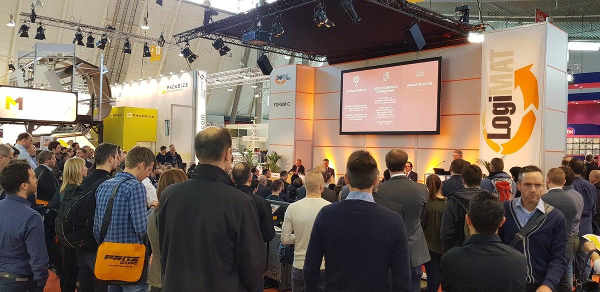 Forum der @LogiMAT_Messe in Halle 4 auch heute wieder Besucherrekord! @AIM_Deutschland @ICS_AG @AIM_Deutschland #ITSicherheit #AI #CyberSecurity #Datenschutz #LogiMAT #RFID #Logistics #ITSicherheit #ISMS #Industry40  #IoT #Automation #Digitalisierung #cybercrime #industria40