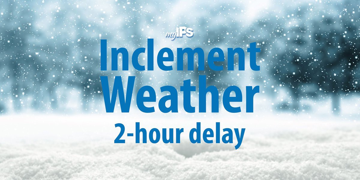 IMPORTANT – All school campuses will be operating on a two hour delay today, February 20th. <br>http://pic.twitter.com/pEGoRDcyjJ