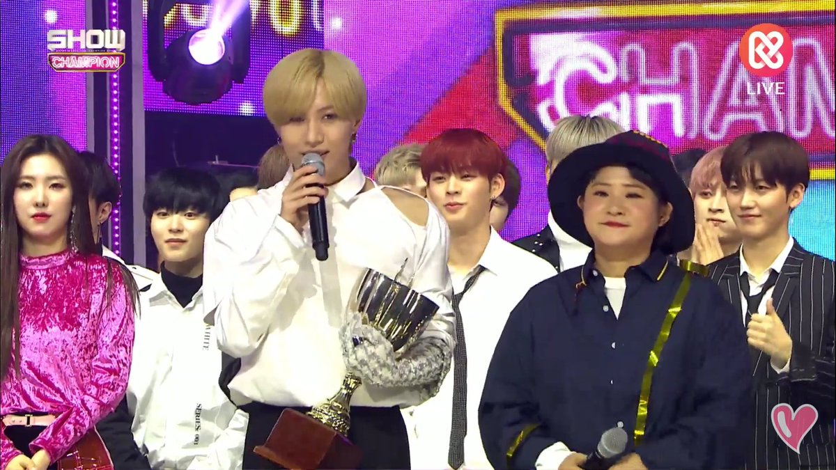 CONGRATULATIONS @SHINee TAEMIN FOR #WANT1stWIN ON SHOWCHAMPION!!   In his speech, he mentioned his SHINee members, he was sooo thankful for them and also to SHINee World. He said he loves us all!! #TAEMIN #WANT !! LET&#39;S GO FOR MORE!! YOU DESERVE IT, LOVE!!<br>http://pic.twitter.com/LlcO5c1sv3