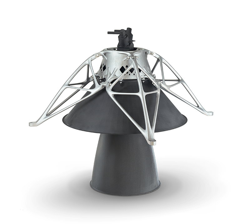 First #3Dpart on the #moon!  Lunar Lander of @TeamSpaceIL with the 3D Aluminium structure from @RuagSpace as part of the engine is scheduled to launch tomorrow. We are proud to be part of this project and excited for tomorrow!   Picture credit to RUAG Space and SpaceIL