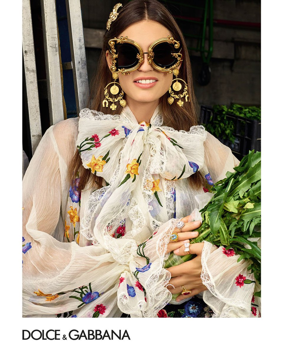 Baroque-inspired oversized sunglasses, a style icon that will add a touch of glamour wherever you are.  Exclusively in Dolce&Gabbana boutiques and selected stores. #DGEyewear #DGCampaign #DGSS19  #DGWomen