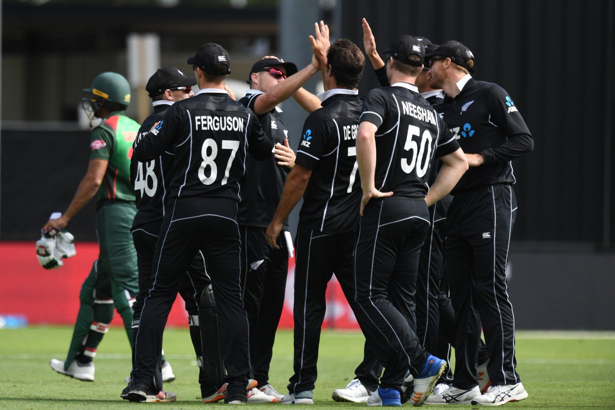New Zealand seal another bilateral ODI series victory over Bangladesh at home!  2007/08: Win 3-0 ✅ 2009/10: Win 3-0 ✅ 2016/17: Win 3-0 ✅ 2018/19: Win 3-0 ✅  Batsmen, Tim Southee power their side to a comprehensive win in Dunedin.  #NZvBAN REPORT 👇 http://bit.ly/NZvBan3-Report