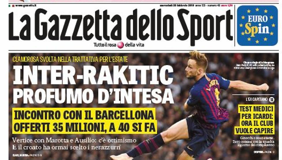La Gazzetta habla de avances del Inter por Rakitic https://t.co/vMWDOr9uF9