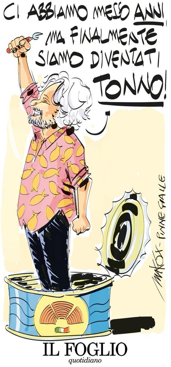 """""""S'i fosse tonno, arderei 'l mondo"""" (semicit.) Anche oggi, sul Foglio, una splendida vignetta di @makkox  https://t.co/zkrTIqMehq"""
