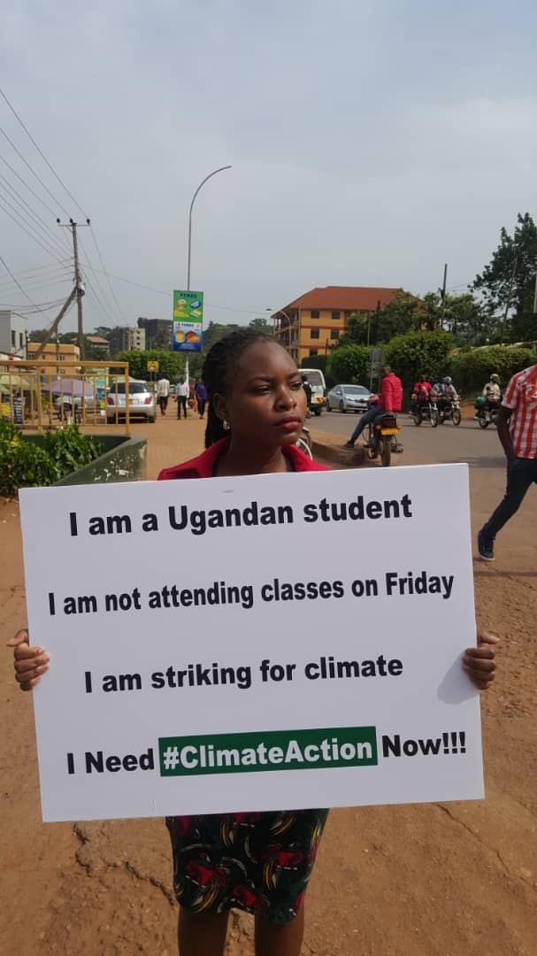 Meet @NakabuyeHildaF a student from Kampala International University who is foregoing lectures on Friday to strike for Climate. She&#39;s mobilised fellow students to do the same. #Fridays4Future @Strike4Youth @GretaThunberg @FFF_USA @F4F_Uk @lillyspickup @environment @DailyMonitor<br>http://pic.twitter.com/fYaeikTAHZ