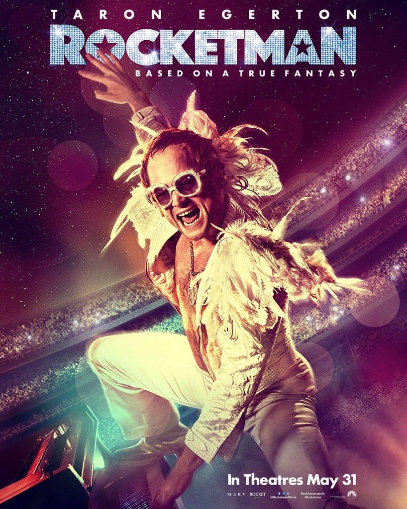 Taron Egerton'ın Elton John'u canlandırdığı, 31 Mayıs'ta vizyona girecek Rocketman filminden yeni bir afiş: