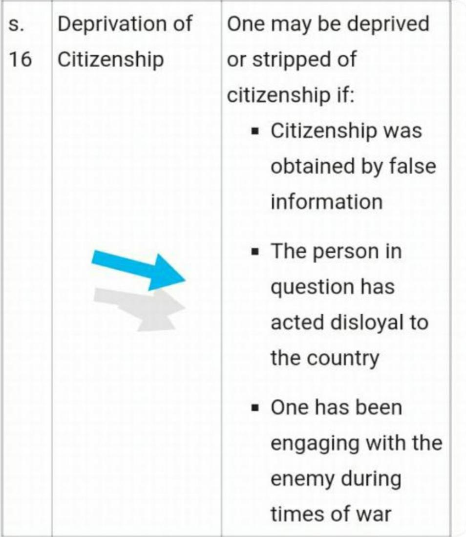 And on the subject of treason in times of war....let's read what the law says about cancelling the citizenship of a person. This needs to be applied now...ruthlessly..  By the way do the Indians know that that Adnan Sami khan is actually an ISI agent? Or it is still a secret?