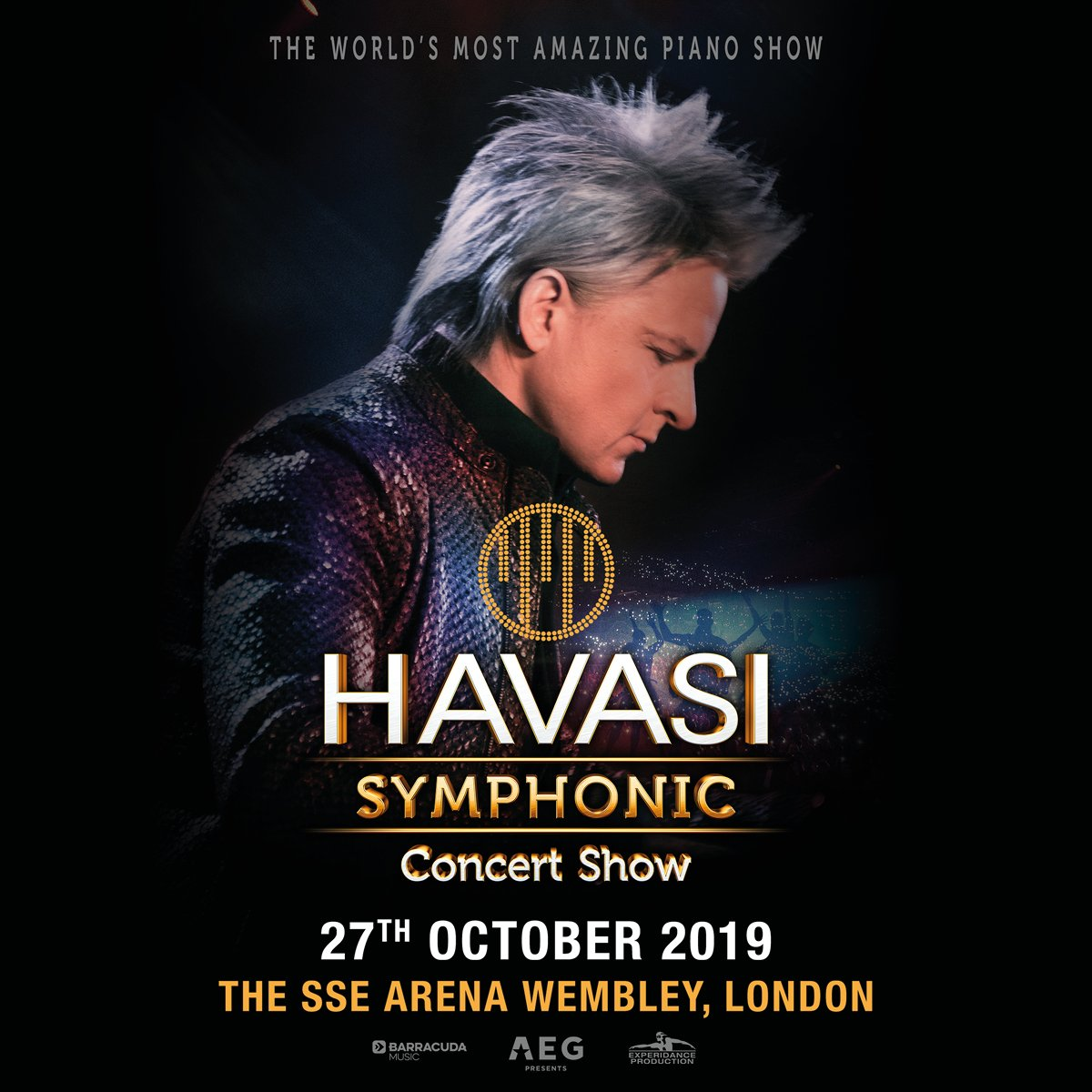 The world's most amazing piano show debuts at The @ssearena, Wembley.  See HAVASI here in October.  Tickets at the link on Friday:  https://t.co/Wh5pqcd2iE