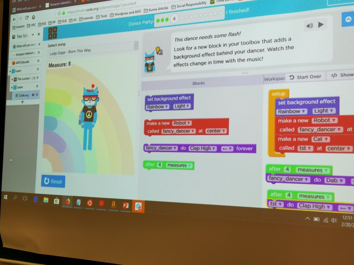 Hour of Code @codeorg @twcodebot doing a dance with creativity, computational thinking, problem solving and active learning experiences. @WCEDnews @WCED_HOD @KarenR_Dudley18 @elzetteb @christellebark #codeorg #codinglanguage @AWS #coding #ZAedu