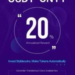Image for the Tweet beginning: 20% Annualized Reward! USDT·CNYT Special