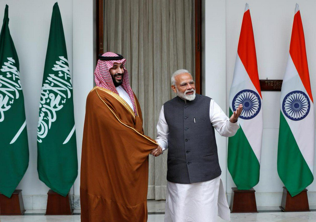Saudi prince foresees 'good things' with India on visit overshadowed by Kashmir https://t.co/kfgHN3hrwb https://t.co/dq2uEABjvQ