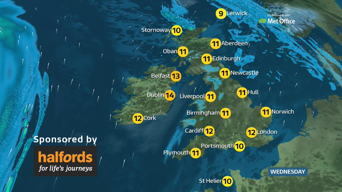 Cloudy start makes way for mixed weather on Wednesday  Here's the full forecast:  https://t.co/XfZtSnQ0nz