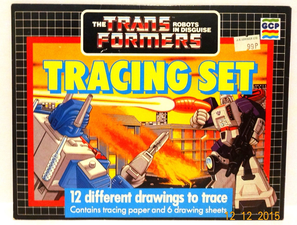 Colouring Capers and Tracing Set, part of the diverse range of G1 stationery, produced/released in the UK - G.C.P Limited, Hawthorn Works, Corsham, Wilts, UK. 1987 #transformers #g1